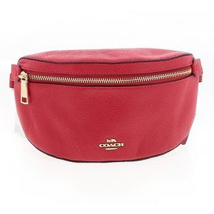 Coach Red Pebble Leather Belt Bag NWT